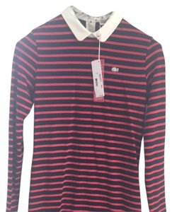 Lacoste short dress Red/Navy Stripe on Tradesy