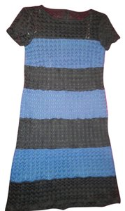Muse short dress black & blue on Tradesy