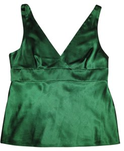 Theory Silk Top Emerald Green