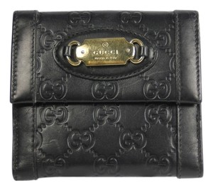 Gucci Gucci GG Embossed Flap Wallet - Black