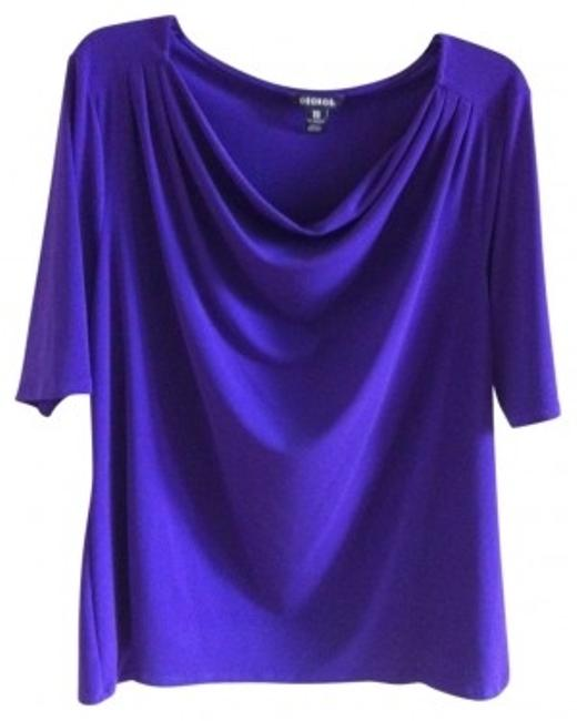 Preload https://item2.tradesy.com/images/george-purple-cowlneck-blouse-size-16-xl-plus-0x-40236-0-0.jpg?width=400&height=650