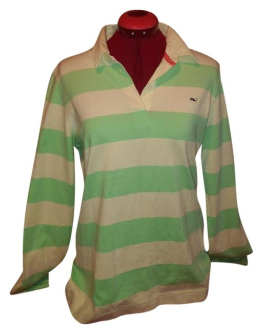Preload https://item1.tradesy.com/images/vineyard-vines-green-and-white-sweaterpullover-size-12-l-4024090-0-0.jpg?width=400&height=650