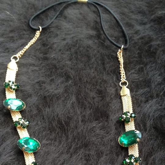 Other GOLD TONE WITH EMERALD COLOR STONES Hair ACCESSORY