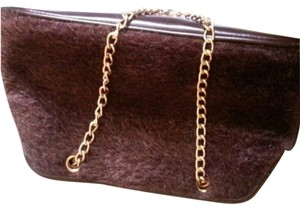 Victoria's Secret Faux Fur brown Clutch