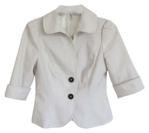 Guess Striped White Blazer