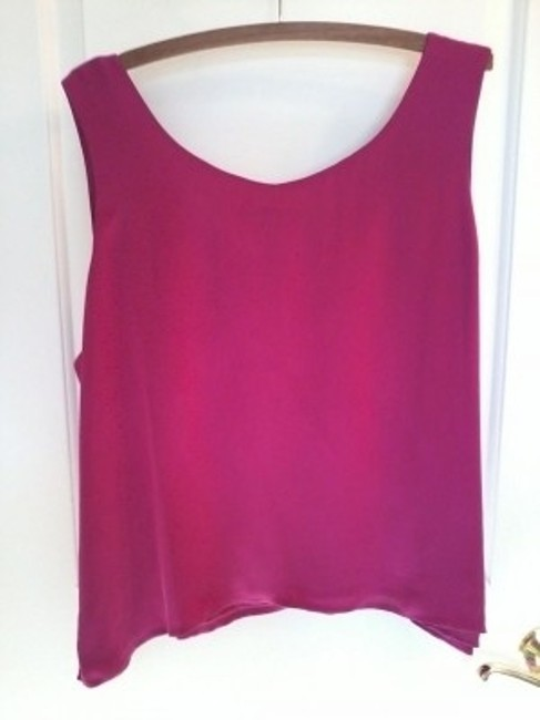 Carole Little Coldwater Creek Lined Fuschia Shell Xxl Top Multi Colored Pattern