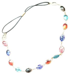 Other GOLD PLATED MIXED CRYSTAL RHINESTONE ELASTIC HEADBAND