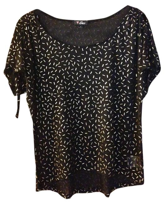 Guess Sparkle Studded Shear Cut-out Top Black
