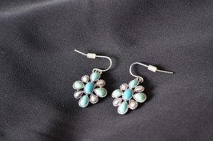 Chaps Turquoise Dangle Earrings