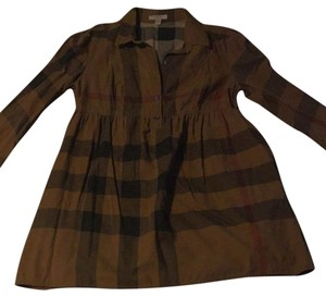 Burberry Brit Button Down Shirt Brown check