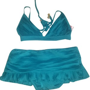 Juicy Couture New 2 Piece Ruched Juicy Bikini