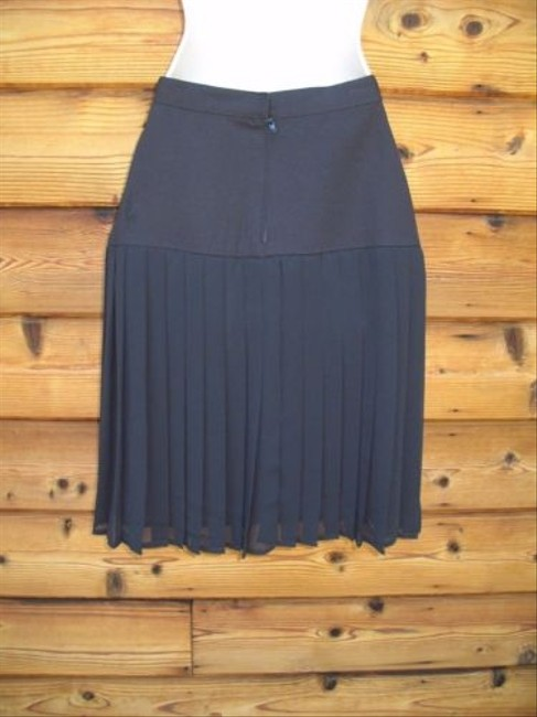 Ann Taylor Chiffon Pleated High Waist Skirt Black