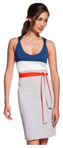 Lacoste short dress Grey Chine/White/Blue on Tradesy