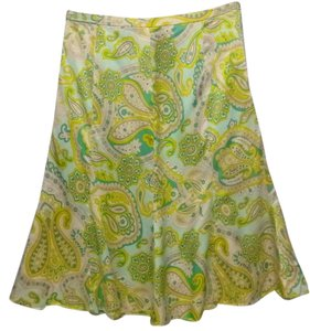 Banana Republic 4 Silk A Line Skirt multi