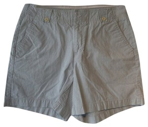 Dockers Cargo Shorts Blue and Beige Pinstriped