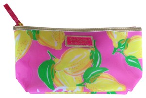 Lilly Pulitzer Pink w/yellow lemon design Clutch