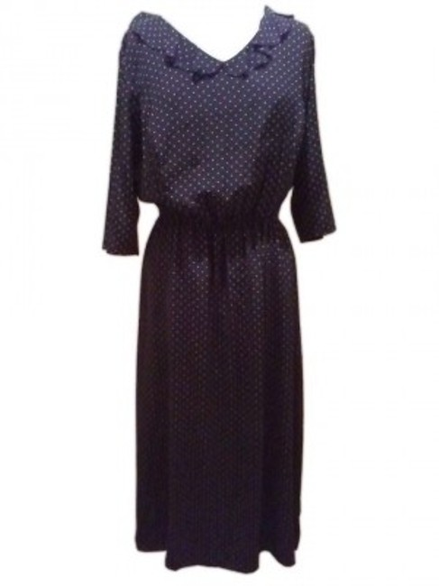 Preload https://img-static.tradesy.com/item/40267/liz-claiborne-navy-or-midnight-blue-polka-dotted-long-workoffice-dress-size-18-xl-plus-0x-0-0-650-650.jpg