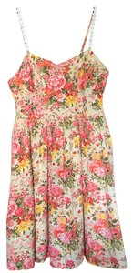 Band of Gypsies short dress Floral Peach, Green, Yellow, Pink on Tradesy