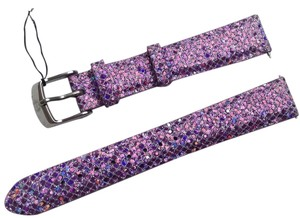 Michele Authentic MICHELE 16mm Pink Crystal Leather Watch Band