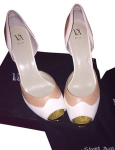 Velvet Angels Tan and Beige Pumps