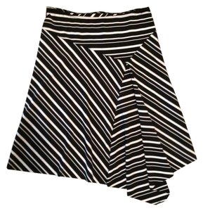 A. Byer Skirt black and white stripes