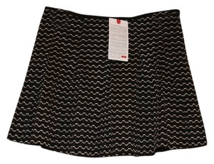 Stripe Hot Mama Mini Skirt Black