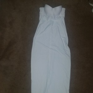 David's Bridal White Stretch Long Bralet Spanx Slip Undergarmet 32a Sexy Wedding Dress Size 6 (S)
