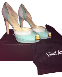 Velvet Angels Turqouise and Light Blue Pumps