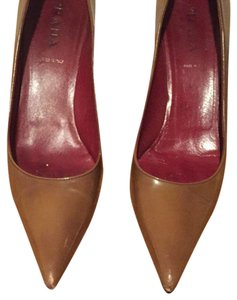 Prada Camel Brown Pumps