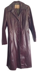 Gino Leathers Vintage Leather Trench Coat