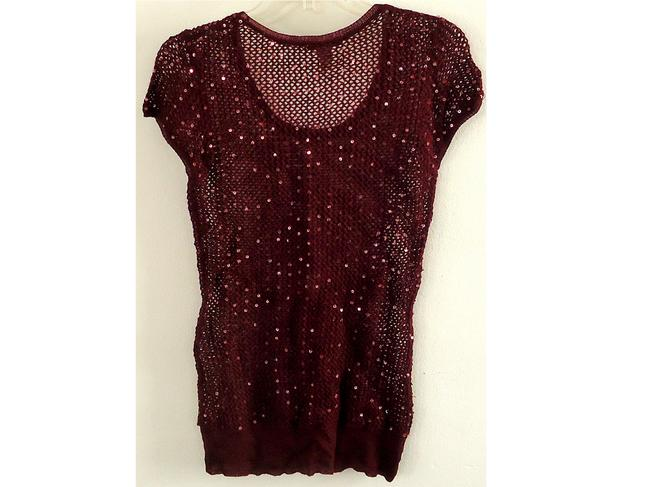 Forever 21 Sparkle Wool Top grape