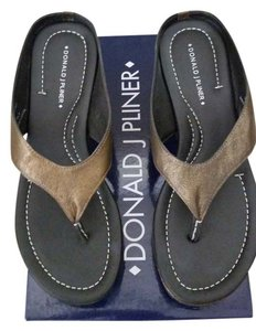 Donald J. Pliner bronze antique metallic Sandals