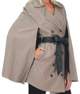 Jacket Belted Peacoat Cape