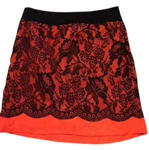 The Limited Skirt Coral/black
