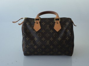 Louis Vuitton Vintage Leather Satchel in Monogram