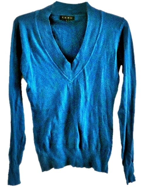 Preload https://item3.tradesy.com/images/tcec-teal-sweaterpullover-size-12-l-4028362-0-0.jpg?width=400&height=650