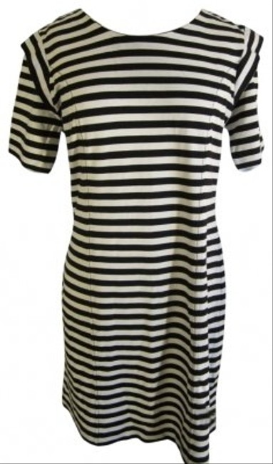 French Connection short dress Black and Cream Striped on Tradesy
