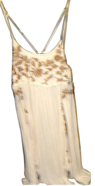 Free People short dress Cream Nwt Airy Flowy on Tradesy