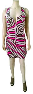 Walter Baker short dress pink, gray, white Summer on Tradesy