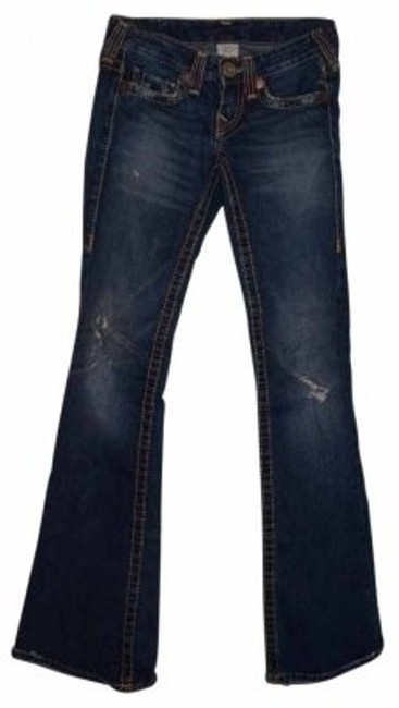 Preload https://item1.tradesy.com/images/true-religion-medium-wash-with-distressing-and-sand-wash-cott-bobby-big-t-flare-leg-jeans-size-25-2--40290-0-0.jpg?width=400&height=650