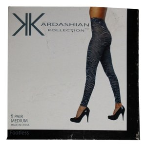 Kardashian Kollection Kardashian Kollection MEDIUM ZEBRA TIGHTS FOOTLESS 5'-5'7