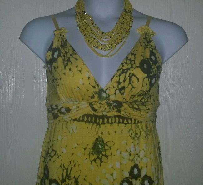 YELLOW/BLACK Maxi Dress by Chelsea & Violet