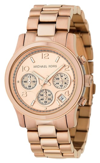 Michael Kors Rose Gold-Tone Chronograph Runway Watch
