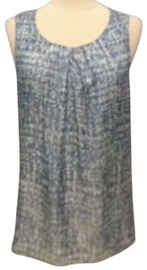 J. Jill Sleeveless Blouse Medium Top blue/multi