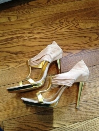 Sergio Rossi rose and gold Formal