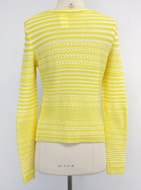 Trina Turk Striped Cotton Knit Sweater