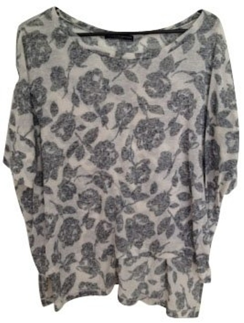 Preload https://item4.tradesy.com/images/brandy-melville-grey-floral-print-tunic-size-8-m-403-0-0.jpg?width=400&height=650