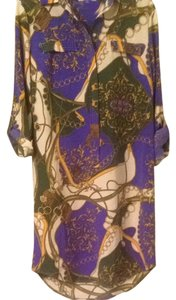 Jennifer Lopez short dress Blue, Purple, Gold, Beige on Tradesy