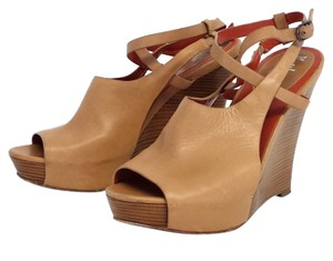 Cole Haan Air Gilda Tan Leather Wedge Wedges