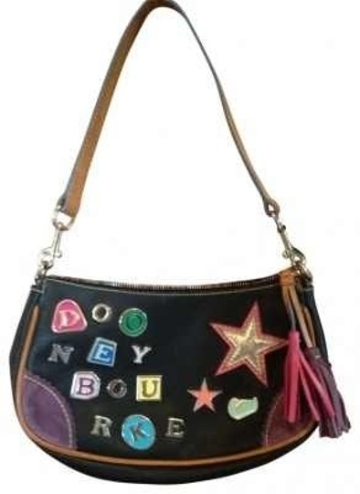 Preload https://img-static.tradesy.com/item/40301/dooney-and-bourke-with-colored-charm-letters-black-leather-shoulder-bag-0-0-540-540.jpg